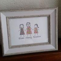 Crafty Karen family group art