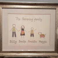 Crafty Karen family art