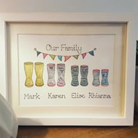 Our Family wellies image